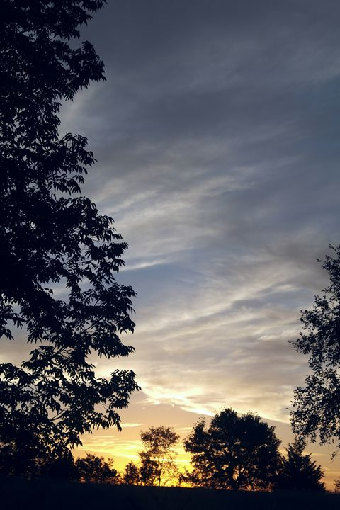 Kansas Sunsets - What I Saw From The Camera Lense