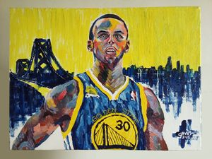 Stephen Curry Acrylic Painting