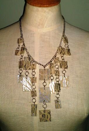 Silver Leaf Tile Necklace - Ona By Design