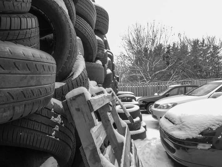 Wall of old tires - Ryans Photography