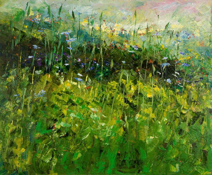 Green Landscape - Margaret Raven Gallery