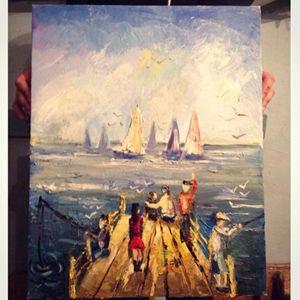 Oil painting, Wall art, Modern art
