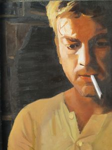 Portrait with cigarette.