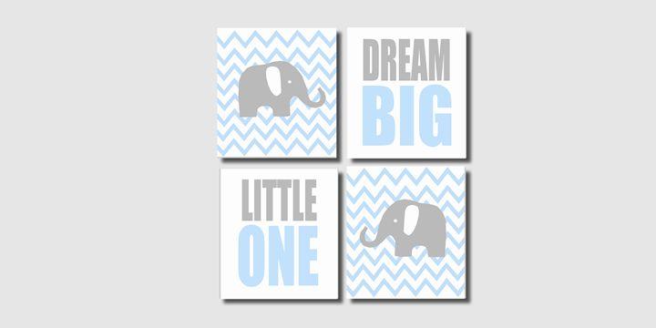 Four 8x10 Elephant Prints - Steffany Segar Designs