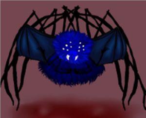 Blue Flying Demon Spider