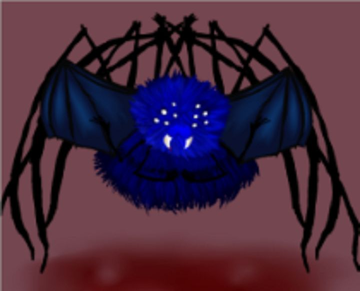 Blue Flying Demon Spider - Life Overlord