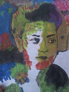 2 Faces Woman - Acrylic A4
