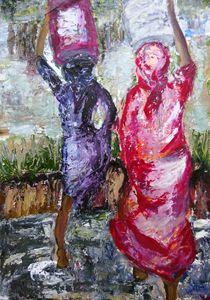 ART AFRICAN WATERBEARERS BY JAIMS
