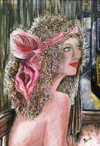 ART WOMAN AT WINDOW BY JAIMS