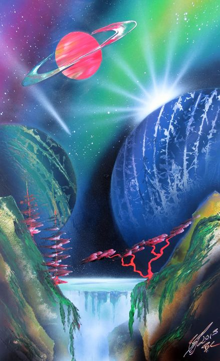Space waterfall - Robin Seagrave