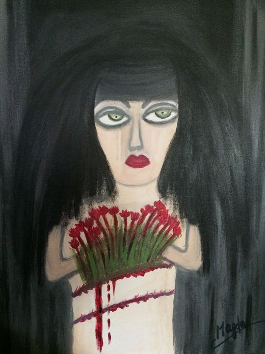 The lady who sells the flowers - Magda Loves to Paint