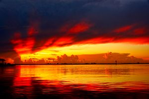 Vivid Colors Sunset at the beach