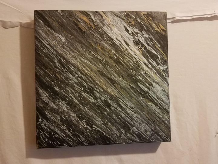 Black, White and gold wall art. - Paula cardenas' artwork
