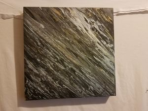 Black, White and gold wall art.