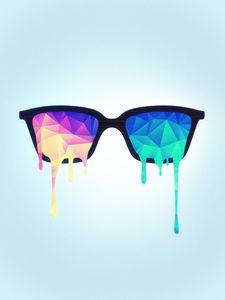 Psychedelic Nerd Glasses
