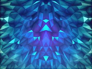 Deep Blue Collosal Low Poly Triangle