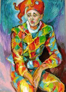 Melancholy clown - Luda Angel