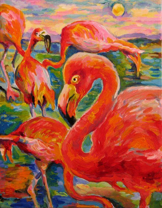 The etude of Flamingos - Luda Angel