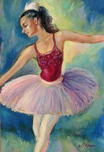 Ballerina on scene - Luda Angel