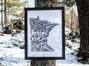 Minnesota Wanderer - Lettering - Wanderingline