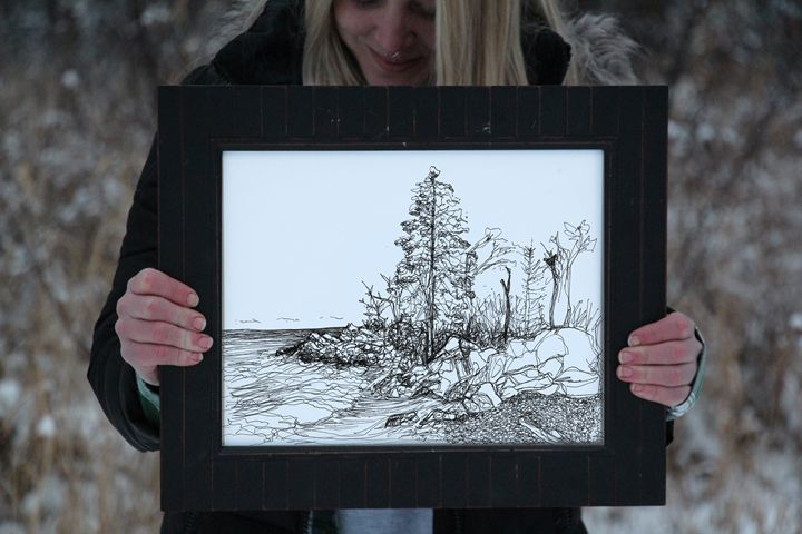 Tettegouche Sketch - 11x14 - Wanderingline