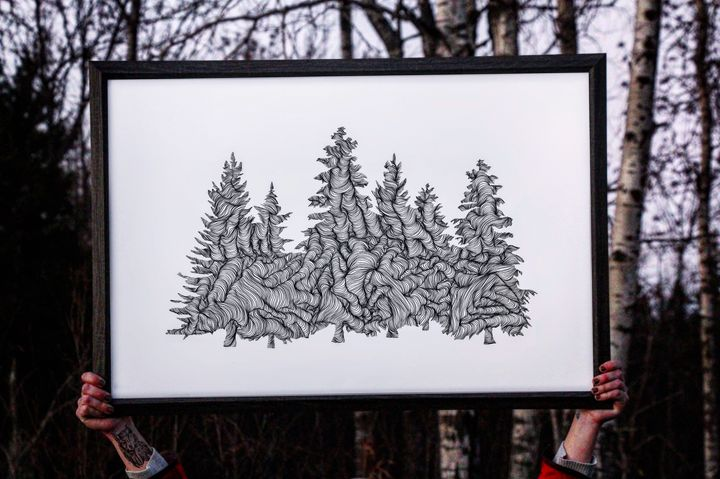 Wander in the Woods - 24x36 - Wanderingline