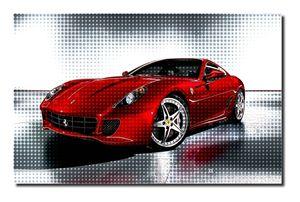 Ferrari Canvas Art, size A1 NEW! - David Gilkes