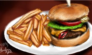 French Fries nd Burger
