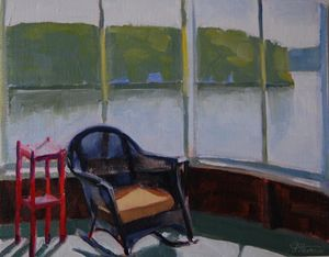 Morning lakeside 11x14
