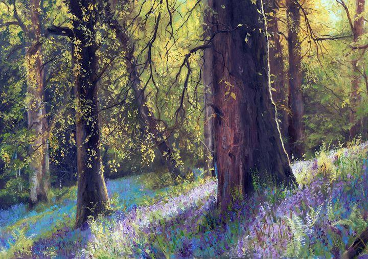 Blue Bells - kenneth Karls Fine Art