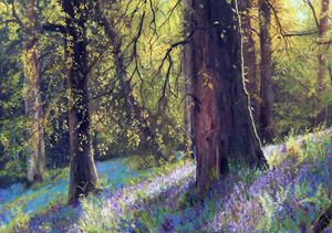 Blue Bells - kenneth Karls Fine Art