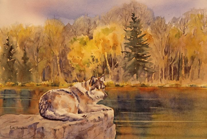Northwoods Wolf - keiththompsonart