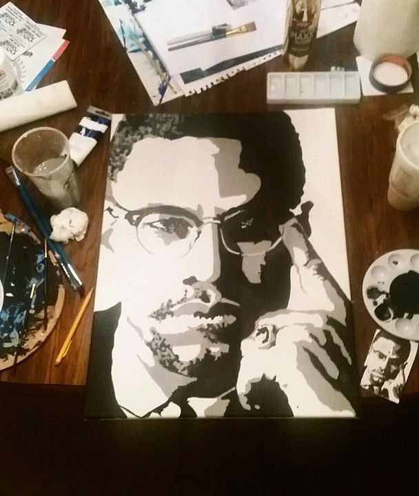 Malcolm X - Jillian Miller Paintings