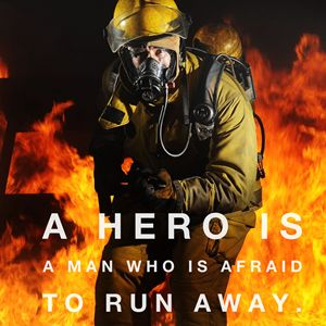 A Hero - CanvasQuotes