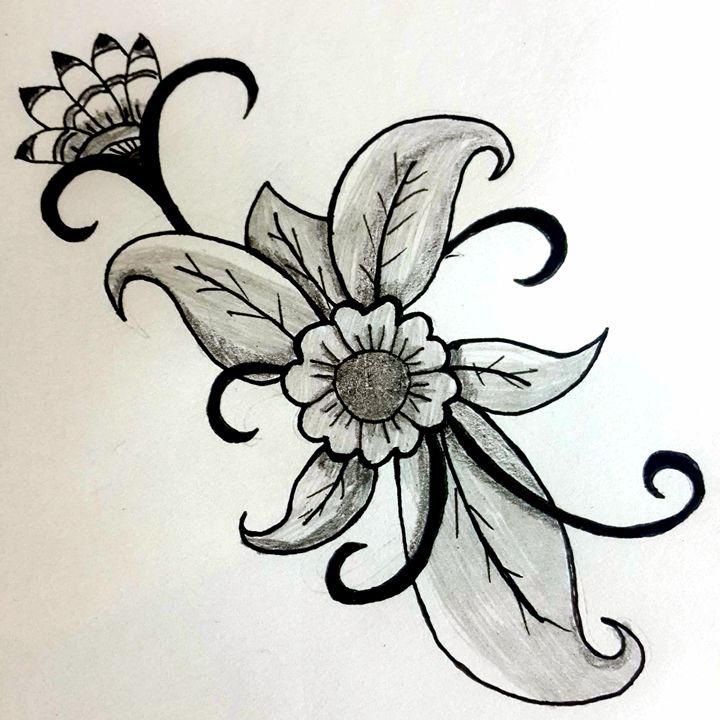 Grey Flower Arrangement - Lonerwolf