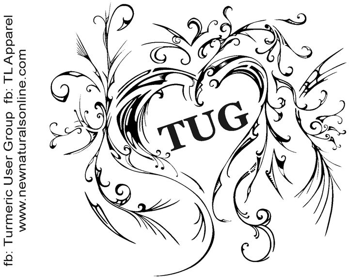 TUG Heart - Turmeric User Group Mug - Sanet van Wyk pen and ink