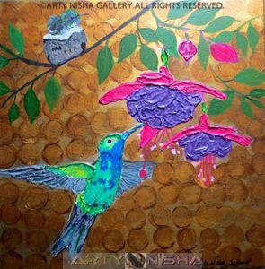 Happy Humming Bird Family