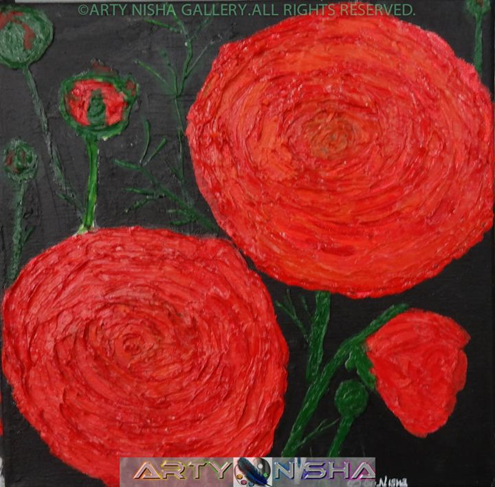 Royal Ranunculus - Paintings