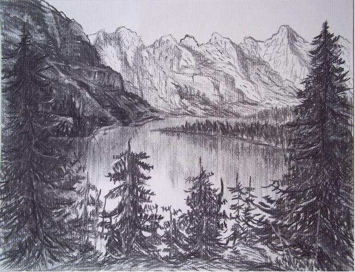 Lake and Mountain - Jose Hau Artwork