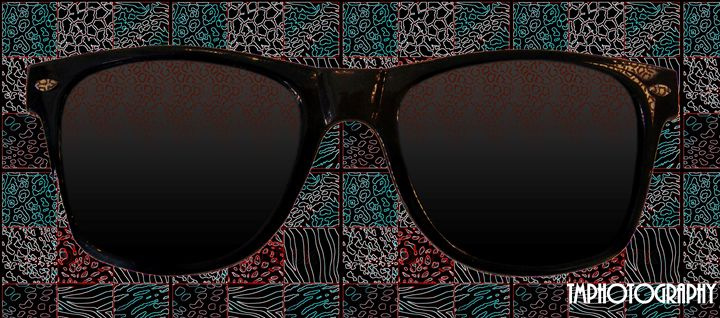 Retro Teal and Black Glasses - TMphotographyBaltimore