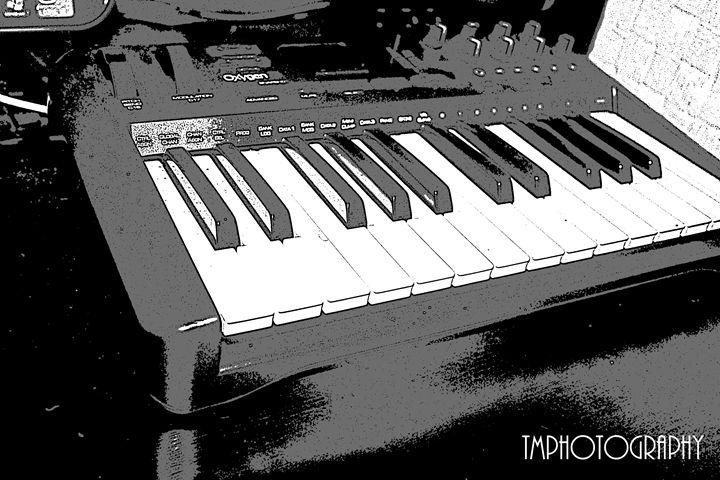 Black and White Cartooned Piano - TMphotographyBaltimore