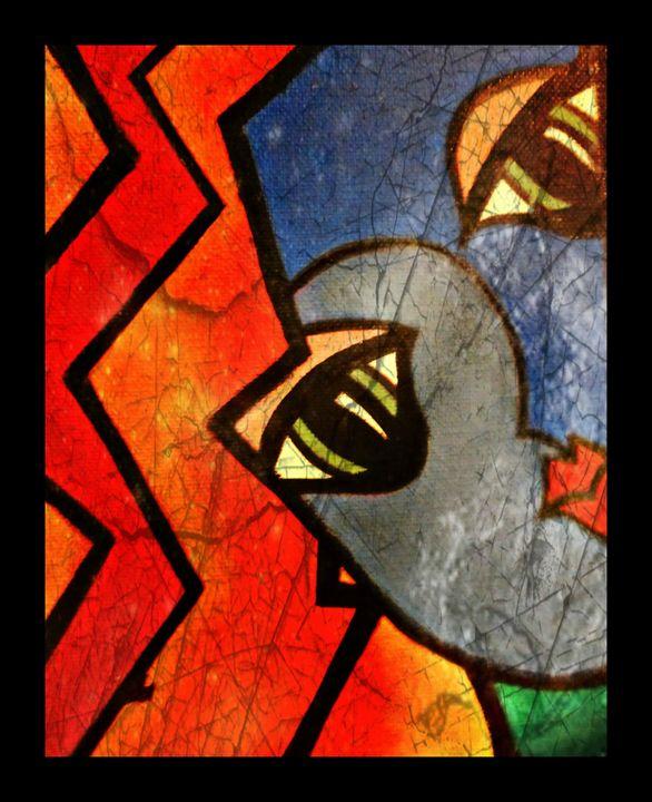 Pop Art Faces (III) Painting - La Casa De Seviles