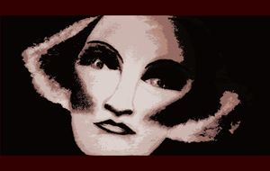 Painting of Marlene Dietrich