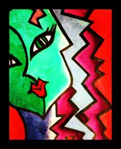 Pop Art Faces (I) by Nicole Settimi