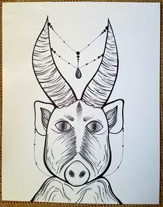 Mischievous boar