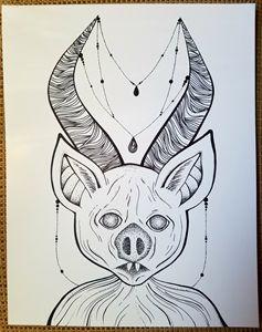 Horned bat