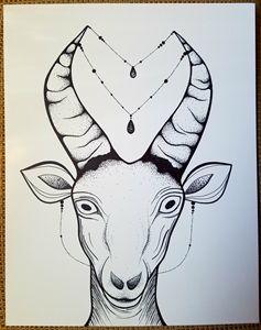 Humorous goat