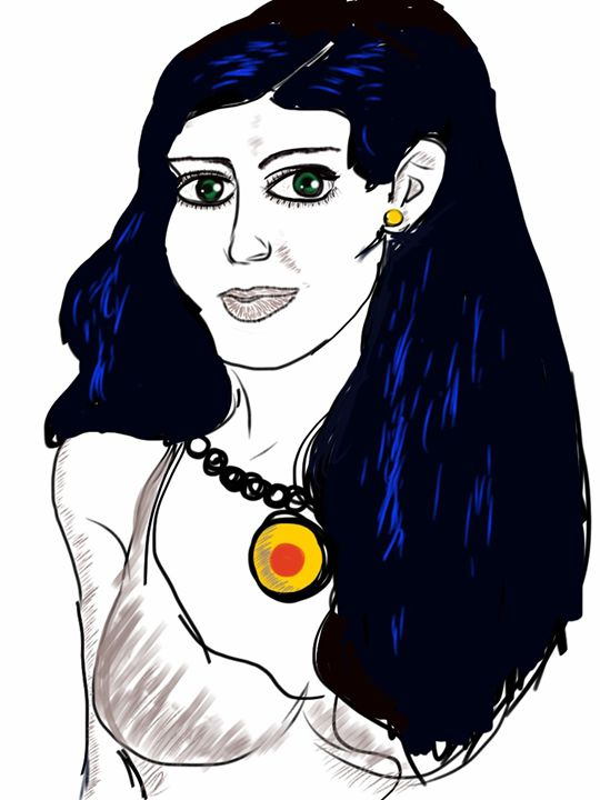 Young woman with jade eyes - Imagination