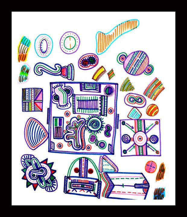 A Square Mandala - Imagination