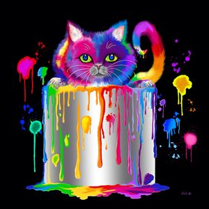 Paint Can Cat